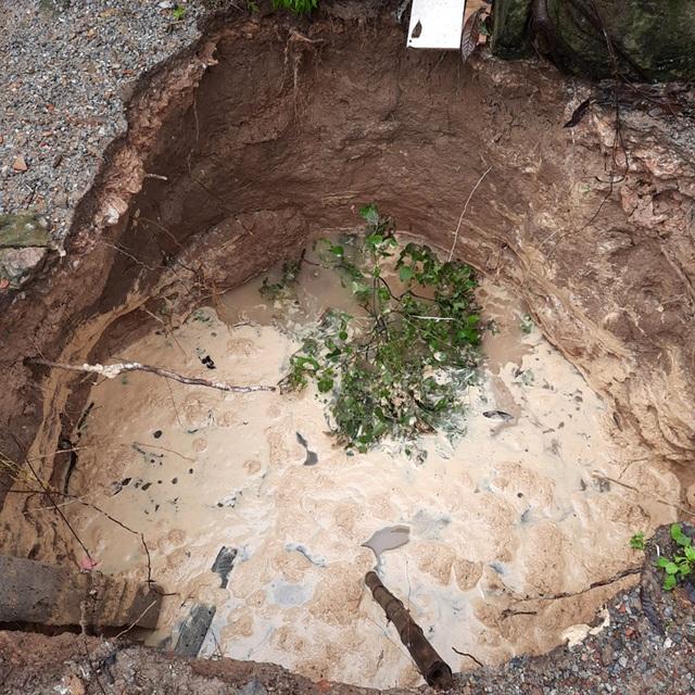 Quảng Bình: Vườn nhà dân bất ngờ sụt xuống thành hố sâu 5m - 1