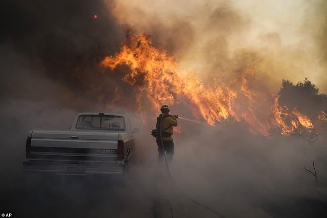 Cháy rừng dữ dội tại California, hàng trăm nghìn người di tản - 1
