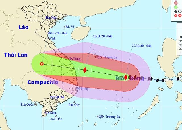 Bão số 9 đang ở cường độ rất mạnh, lao nhanh về Đà Nẵng - Phú Yên - 1
