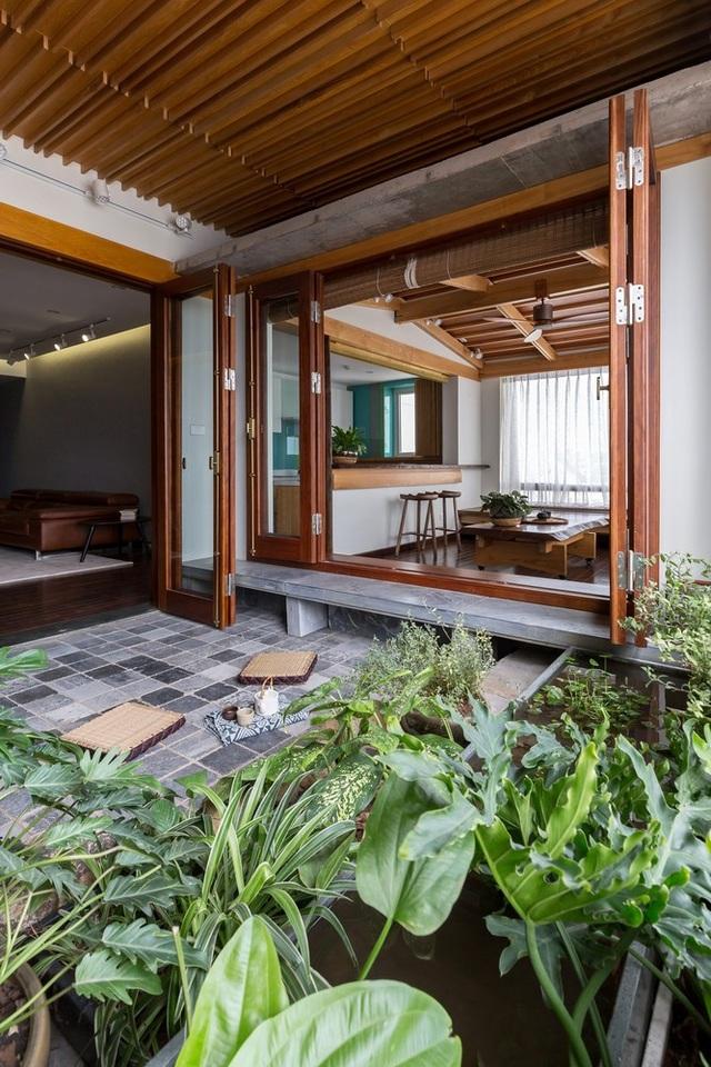 Căn chung cư ở Hà Nội ngập cây xanh như nhà vườn nghỉ dưỡng trên không - 4