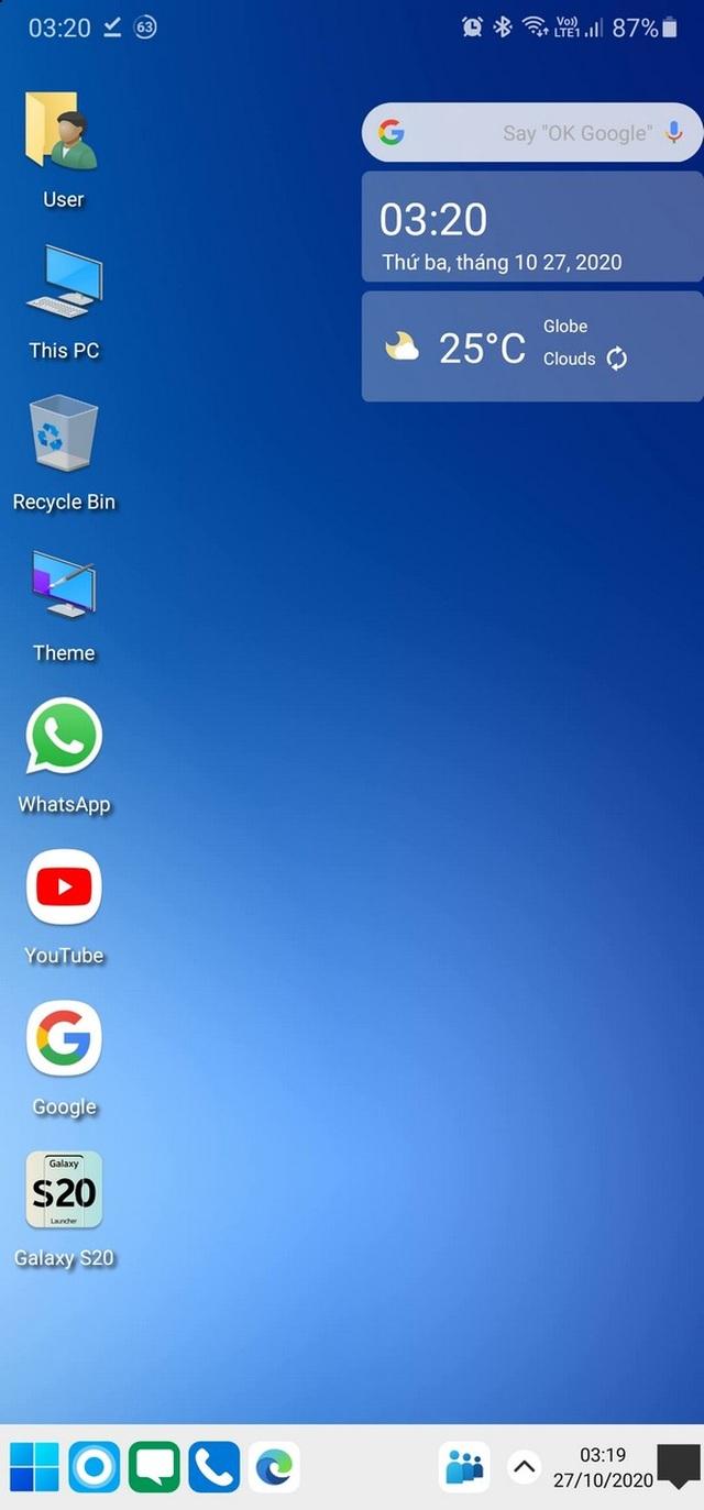 Trải nghiệm giao diện Windows 10 ngay trên smartphone Android - 1
