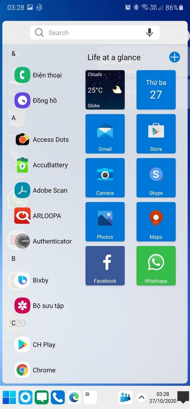 Trải nghiệm giao diện Windows 10 ngay trên smartphone Android - 3