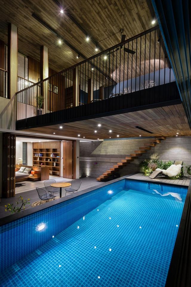 """Bể bơi và khu giải trí hoành tráng """"ẩn mình"""" trong căn biệt thự ở Sài Gòn - 6"""