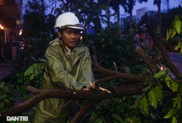 Đường phố Đà Nẵng ngổn ngang, cây xanh ngã đổ la liệt sau bão - 11