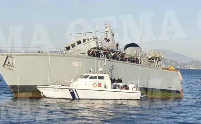 Tàu chở hàng đâm vỡ đôi tàu dò mìn của hải quân Hy Lạp - 2