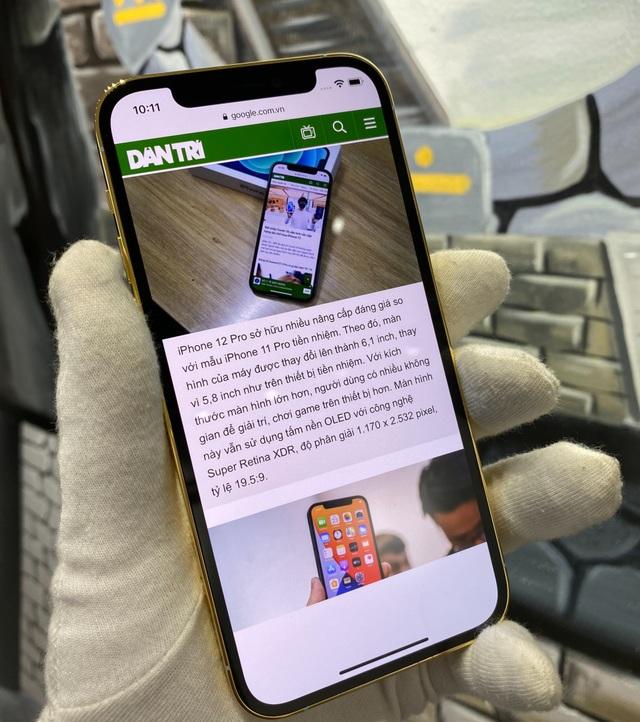 Trên tay iPhone 12 Pro mạ vàng, giá 160 triệu đồng tại Việt Nam - 3