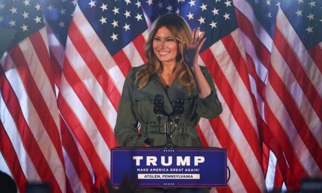 Bầu cử Mỹ 2020: Bà Melania Trump vận động tranh cử hiếm hoi cho chồng - 1