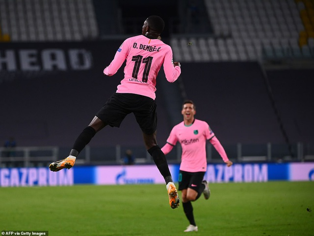 Juventus 0-2 Barcelona: Messi, Dembele tỏa sáng - 2