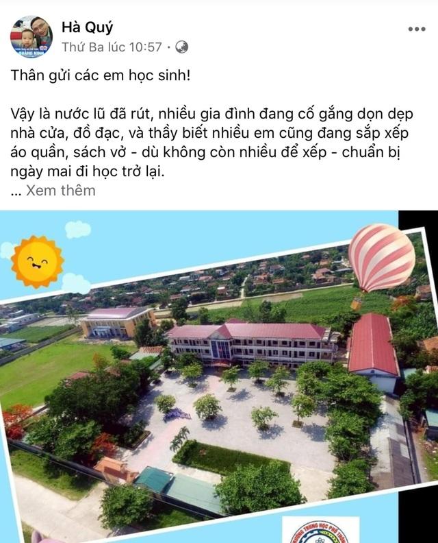 Bức thư ấm áp của thầy hiệu trưởng gửi học sinh vùng lũ - 2