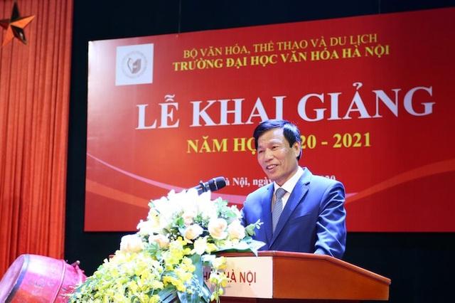Bộ trưởng Nguyễn Ngọc Thiện đánh trống khai giảng tại ĐH Văn hoá Hà Nội - 1