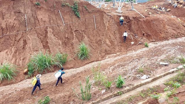 Quảng Nam: Dân băng rừng vác lương thực tiếp tế vào nơi bị sạt lở chia cắt - 6