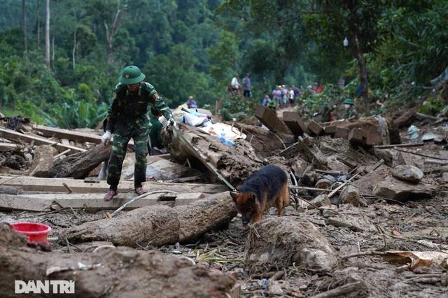 Hình ảnh hàng trăm người lật tung đất đá, tìm người mất tích tại Trà Leng - 4