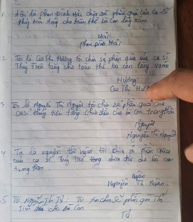 Thực hư việc dân phải nộp lại tiền hỗ trợ của ca sĩ Thủy Tiên cho cán bộ - 3