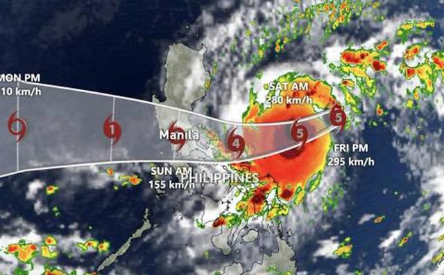 Philippines sơ tán khẩn cấp gần 1 triệu người trước siêu bão Goni - 1
