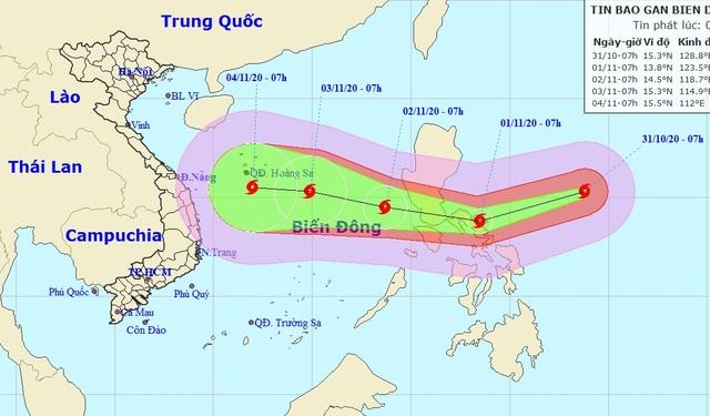 Siêu bão Goni đang hướng vào Biển Đông - 1