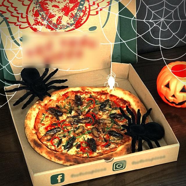 Toát mồ hôi nếm thử pizza lúc nhúc côn trùng ở Hà Nội - 1