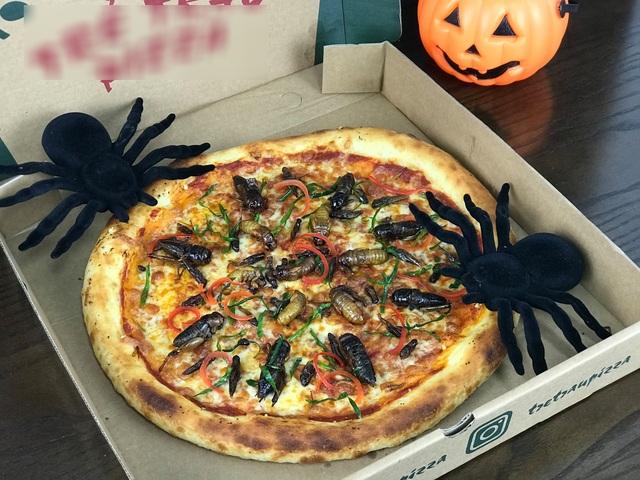 Toát mồ hôi nếm thử pizza lúc nhúc côn trùng ở Hà Nội - 3