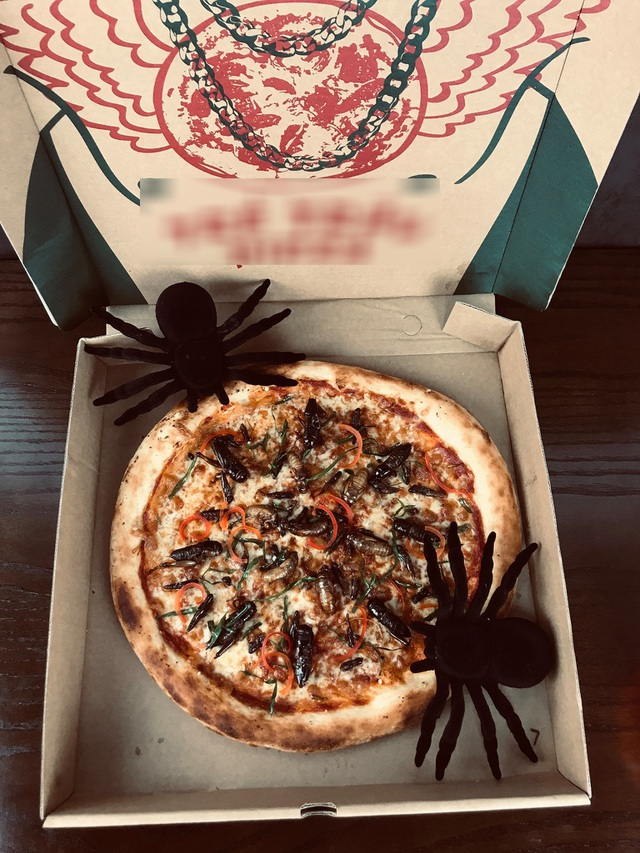 Toát mồ hôi nếm thử pizza lúc nhúc côn trùng ở Hà Nội - 4