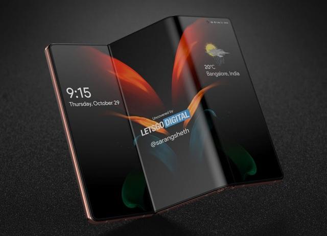 Độc đáo ý tưởng smartphone màn hình gập với bàn phím trượt của Samsung - 2