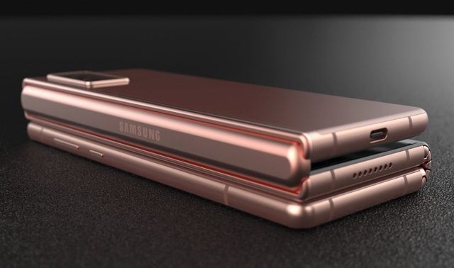 Độc đáo ý tưởng smartphone màn hình gập với bàn phím trượt của Samsung - 5