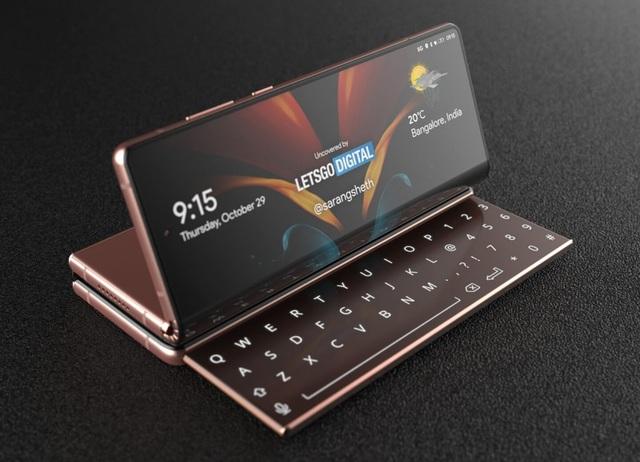 Độc đáo ý tưởng smartphone màn hình gập với bàn phím trượt của Samsung - 6