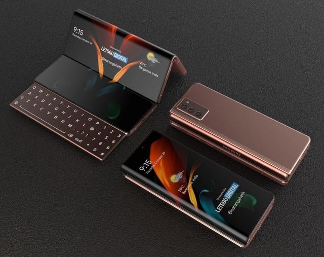 Độc đáo ý tưởng smartphone màn hình gập với bàn phím trượt của Samsung - 8