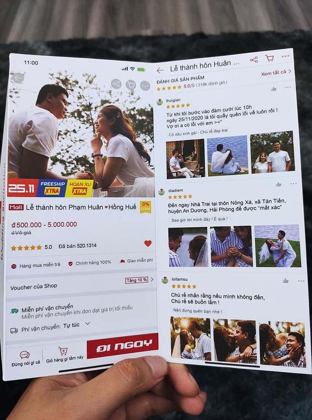 """Thiệp cưới nhìn như trang thương mại điện tử đang """"sốt"""" trên mạng xã hội - 1"""