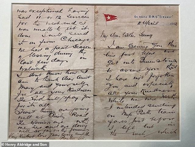 Lá thư giá 880 triệu đồng của mục sư nhường cơ hội sống trên tàu Titanic - 1