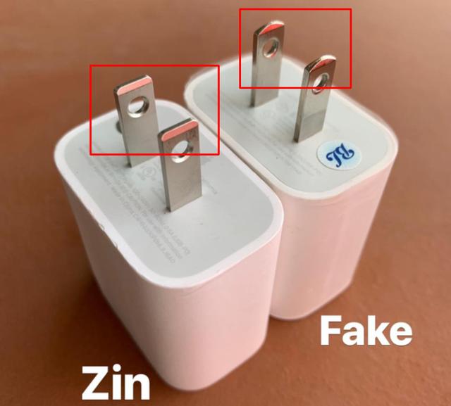 Cách phân biệt sạc nhanh chính hãng Apple với hàng nhái - 3