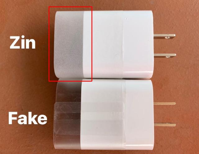 Cách phân biệt sạc nhanh chính hãng Apple với hàng nhái - 4