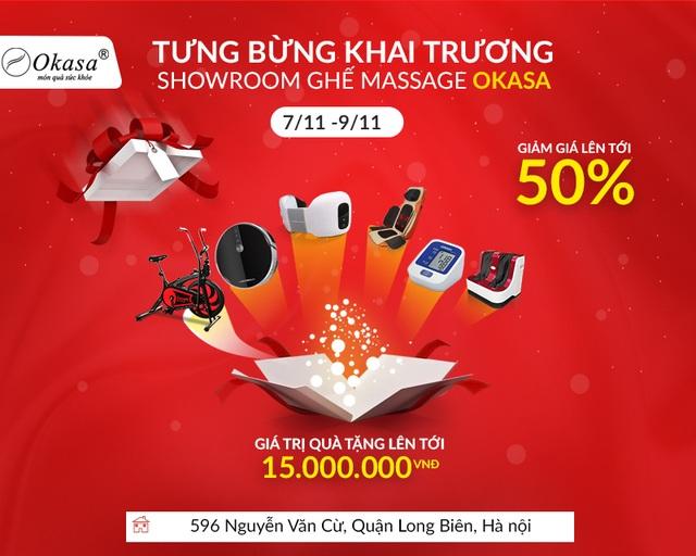 Okasa khai trương showroom ghế massage thứ 14 tại Long Biên - Giảm giá đến 50% - 3