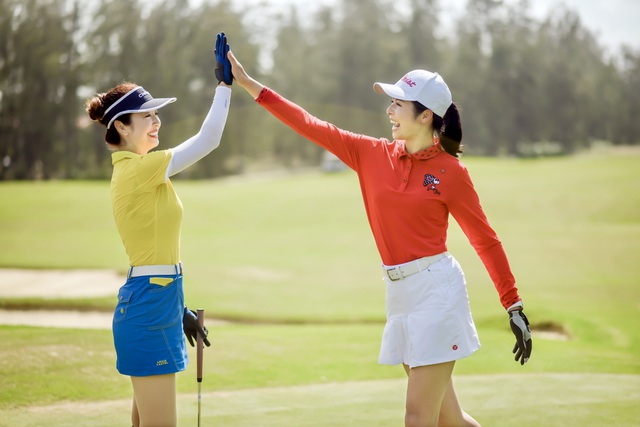 Hoa hậu Ngọc Hân, Jennifer Phạm thi đấu golf quyên góp ủng hộ miền Trung - 2