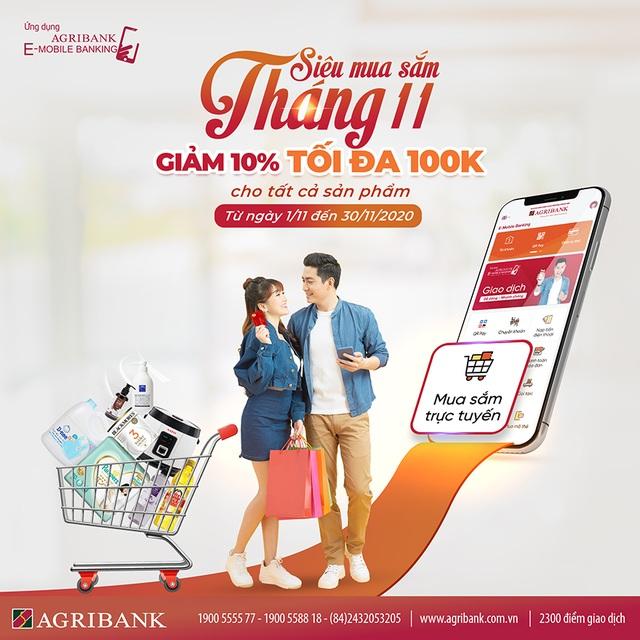 """Chương trình """"Siêu mua sắm tháng 11"""" của ứng dụng Agribank E-Mobile Banking - 1"""