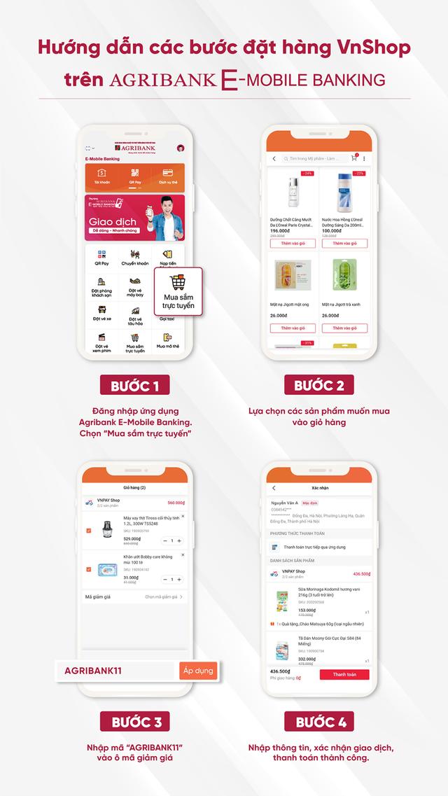 """Chương trình """"Siêu mua sắm tháng 11"""" của ứng dụng Agribank E-Mobile Banking - 2"""