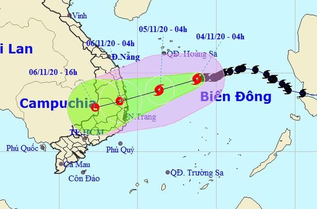 Từ đêm nay nhiều tỉnh Nam Trung Bộ mưa rất to - 1