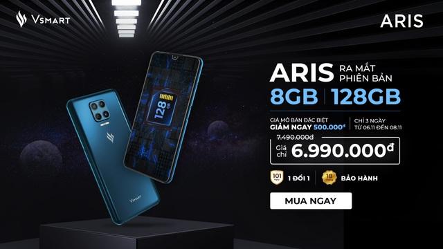 Ra mắt Vsmart Aris nâng cấp cấu hình 8GB Ram/128GB giá không đổi - 1