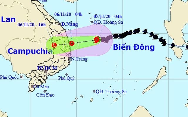 Bão số 10 đang tiến gần các tỉnh Quảng Ngãi - Phú Yên - 1