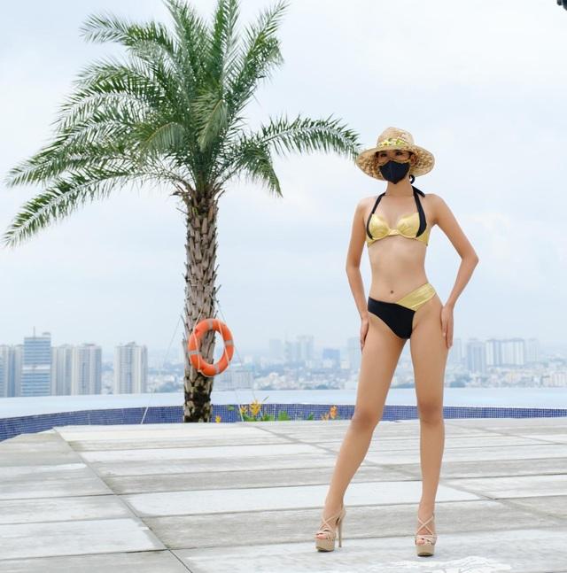 Thái Thị Hoa khoe dáng trong phần thi hình thể tại Hoa hậu Trái Đất - 1