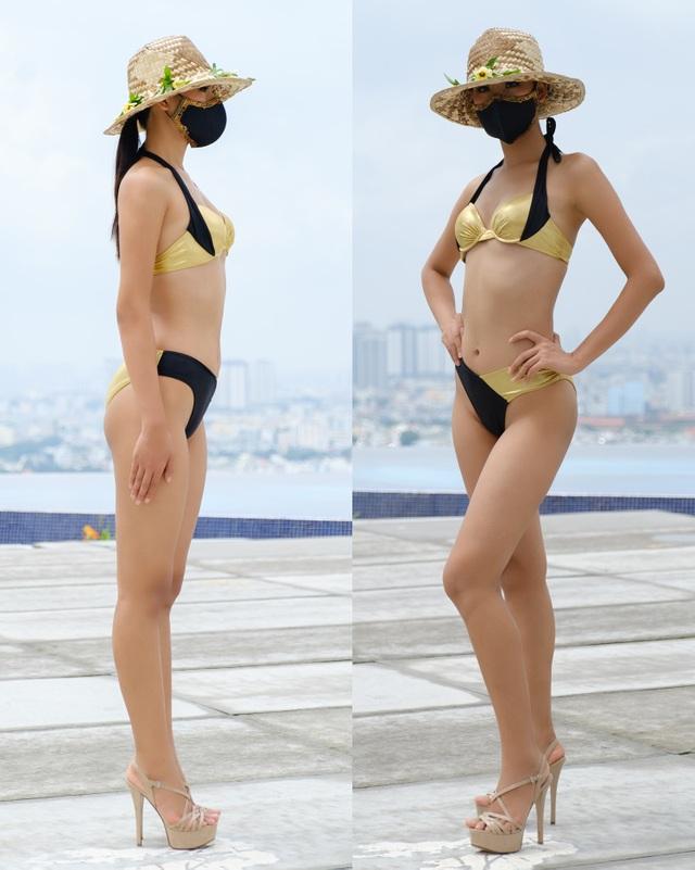 Thái Thị Hoa khoe dáng trong phần thi hình thể tại Hoa hậu Trái Đất - 2
