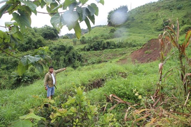 Xuất hiện nhiều vết nứt rộng gần khu vực Thủy điện Đắk R'tih - 3