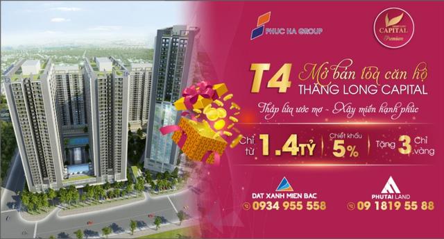 Chính thức mở bán căn hộ tòa T4 Thăng Long Capital, đợt 1 giá tốt ra mắt cư dân Thủ Đô - 1