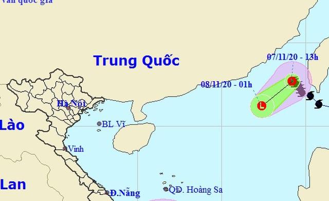 Bão số 11 suy yếu thành áp thấp nhiệt đới - 1