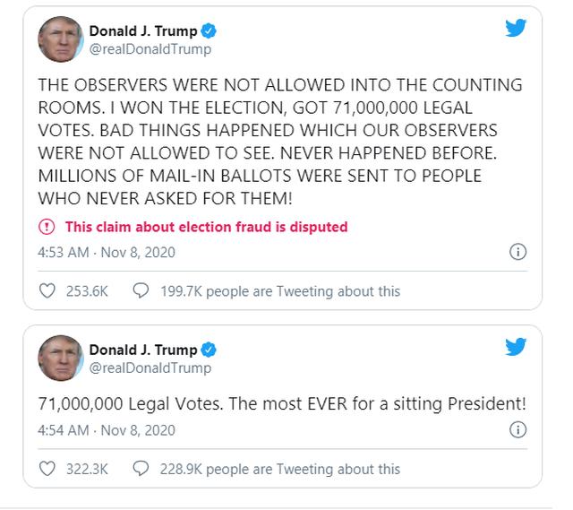 Ông Trump tự nhận thắng đậm với kỷ lục 71 triệu phiếu phổ thông - 2