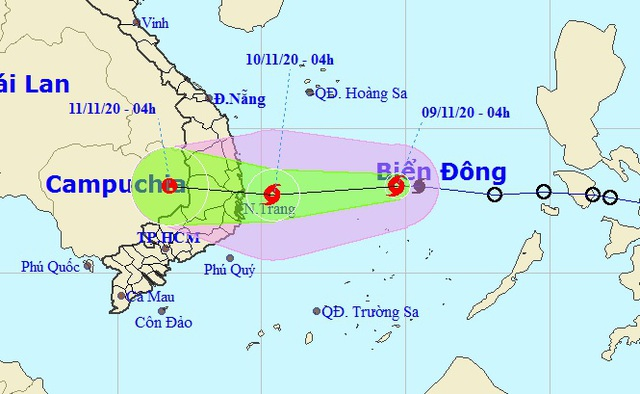 Áp thấp nhiệt đới trên Biển Đông đã mạnh lên thành bão số 12 - 1