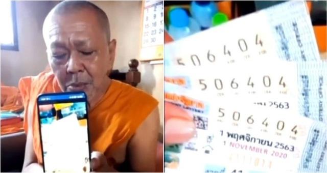Mua xổ số làm phúc, nhà sư Thái Lan trúng 18 triệu Baht - 1