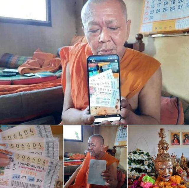 Mua xổ số làm phúc, nhà sư Thái Lan trúng 18 triệu Baht - 2