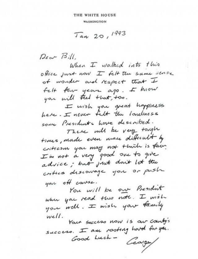 Ông Bush từng gửi tâm thư xúc động cho người kế nhiệm khi rời Nhà Trắng - 2