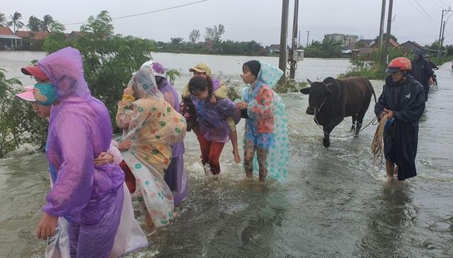 Thừa Thiên Huế: Mưa cực lớn ở thượng nguồn, nước lũ ào vào phố - 11
