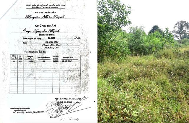 Chuyện lạ ở Đồng Nai: Đất có sổ đỏ 15 năm bỗng dưng bị cấp cho người khác - 1