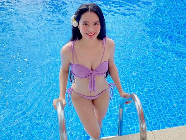 Nữ sinh Kon Tum nổi tiếng vì giống Lưu Diệc Phi thả dáng nuột nà với bikini - 4